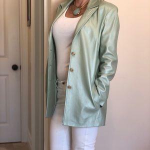 St. John sport pearlized leather jacket, Sz. S